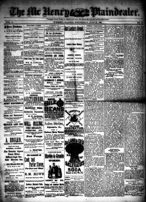 McHenry Plaindealer (McHenry, IL), 23 Jun 1886
