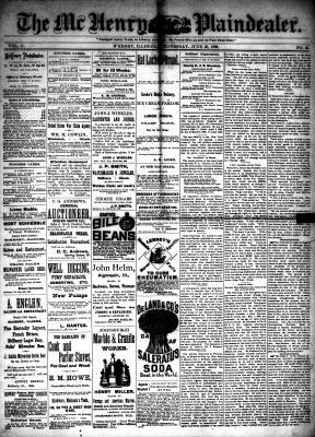 McHenry Plaindealer (McHenry, IL), 30 Jun 1886