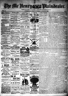 McHenry Plaindealer (McHenry, IL), 25 Aug 1886