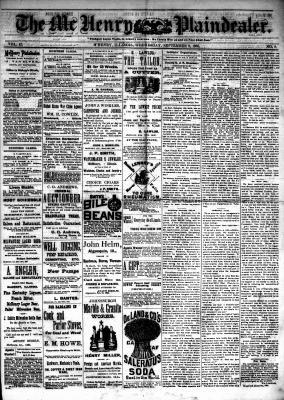 McHenry Plaindealer (McHenry, IL), 8 Sep 1886