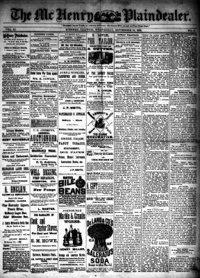 McHenry Plaindealer (McHenry, IL), 15 Sep 1886