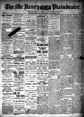 McHenry Plaindealer (McHenry, IL), 3 Nov 1886