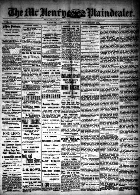 McHenry Plaindealer (McHenry, IL), 10 Nov 1886