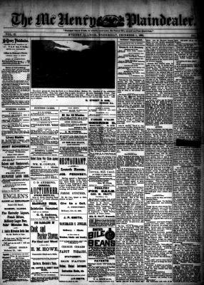 McHenry Plaindealer (McHenry, IL), 1 Dec 1886
