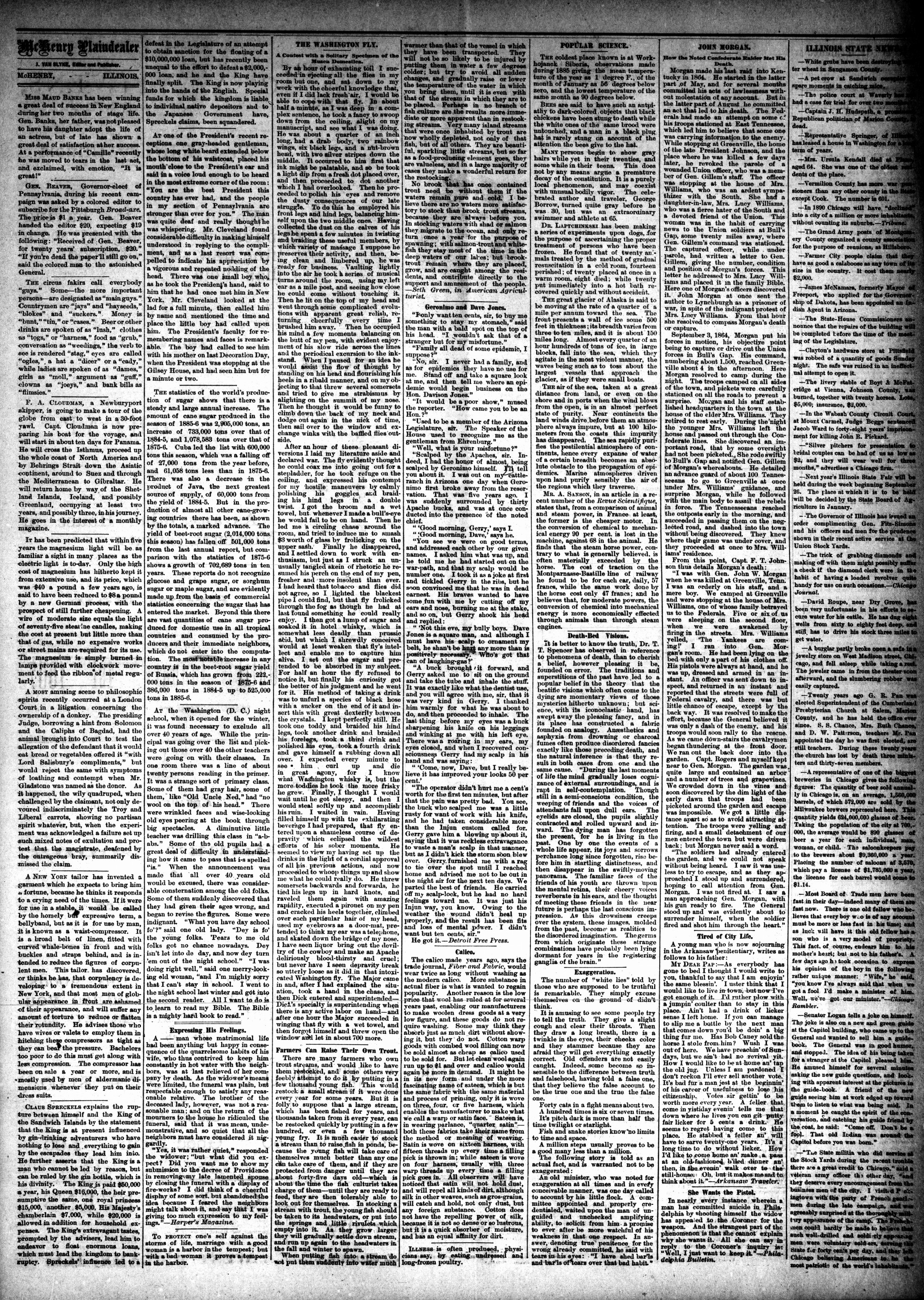 McHenry Plaindealer (McHenry, IL), 8 Dec 1886