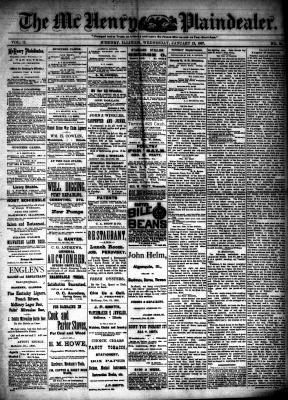 McHenry Plaindealer (McHenry, IL), 12 Jan 1887