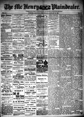 McHenry Plaindealer (McHenry, IL), 19 Jan 1887