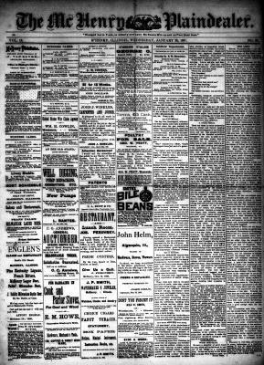 McHenry Plaindealer (McHenry, IL), 26 Jan 1887