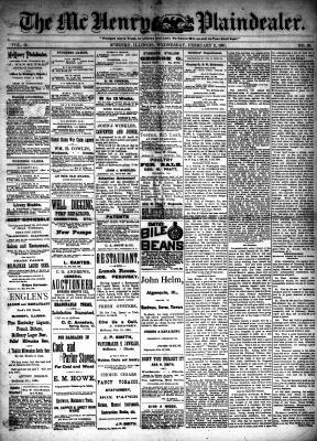 McHenry Plaindealer (McHenry, IL), 2 Feb 1887