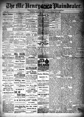 McHenry Plaindealer (McHenry, IL), 9 Feb 1887
