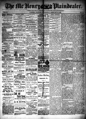 McHenry Plaindealer (McHenry, IL), 16 Feb 1887