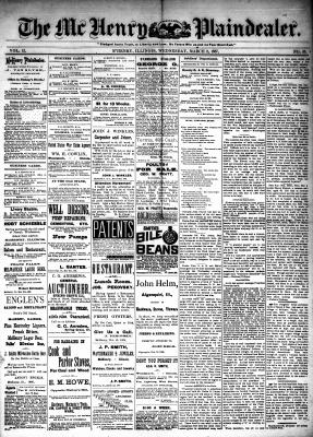 McHenry Plaindealer (McHenry, IL), 2 Mar 1887