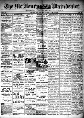 McHenry Plaindealer (McHenry, IL), 9 Mar 1887