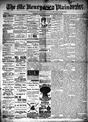McHenry Plaindealer (McHenry, IL), 23 Mar 1887