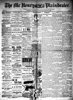 McHenry Plaindealer (McHenry, IL), 30 Mar 1887