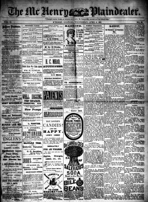 McHenry Plaindealer (McHenry, IL), 6 Apr 1887