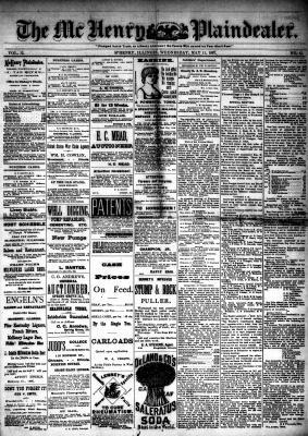 McHenry Plaindealer (McHenry, IL), 11 May 1887