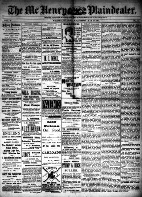McHenry Plaindealer (McHenry, IL), 18 May 1887