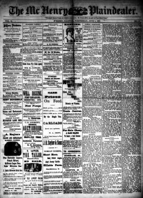 McHenry Plaindealer (McHenry, IL), 8 Jun 1887