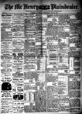 McHenry Plaindealer (McHenry, IL), 27 Jul 1887