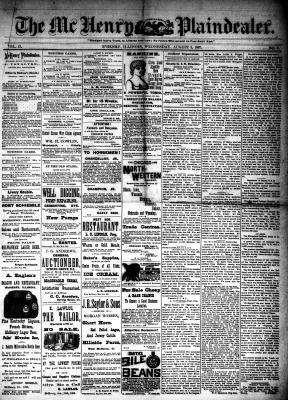 McHenry Plaindealer (McHenry, IL), 3 Aug 1887