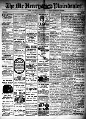 McHenry Plaindealer (McHenry, IL), 31 Aug 1887