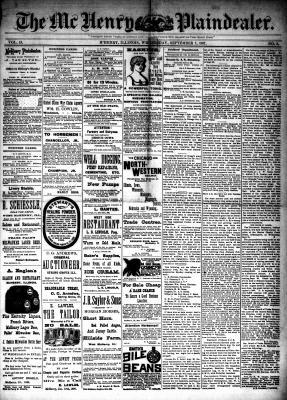 McHenry Plaindealer (McHenry, IL), 7 Sep 1887