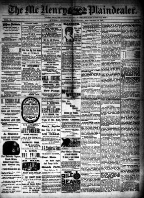 McHenry Plaindealer (McHenry, IL), 14 Sep 1887