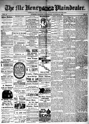 McHenry Plaindealer (McHenry, IL), 26 Oct 1887