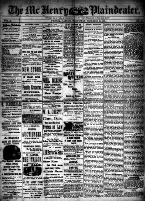 McHenry Plaindealer (McHenry, IL), 23 Nov 1887
