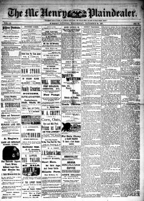 McHenry Plaindealer (McHenry, IL), 30 Nov 1887