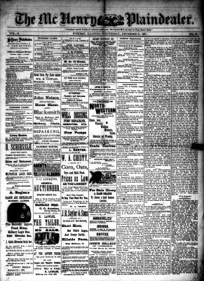 McHenry Plaindealer (McHenry, IL), 21 Dec 1887