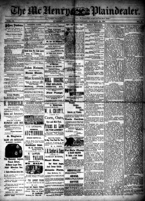 McHenry Plaindealer (McHenry, IL), 25 Jan 1888