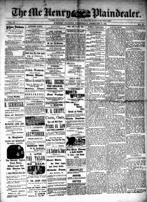 McHenry Plaindealer (McHenry, IL), 8 Feb 1888