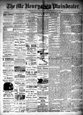 McHenry Plaindealer (McHenry, IL), 15 Feb 1888