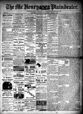 McHenry Plaindealer (McHenry, IL), 7 Mar 1888