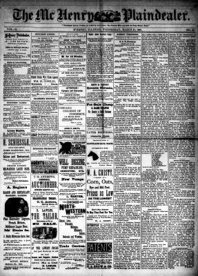 McHenry Plaindealer (McHenry, IL), 21 Mar 1888