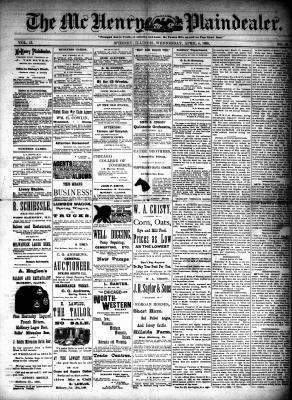McHenry Plaindealer (McHenry, IL), 4 Apr 1888