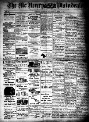 McHenry Plaindealer (McHenry, IL), 11 Apr 1888