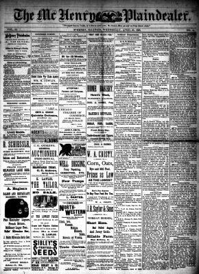 McHenry Plaindealer (McHenry, IL), 25 Apr 1888