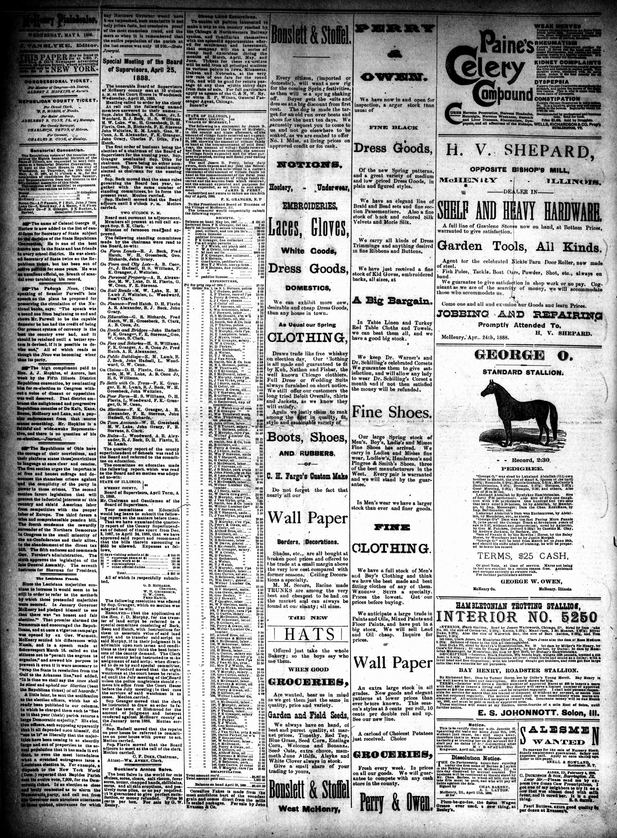 McHenry Plaindealer (McHenry, IL), 2 May 1888