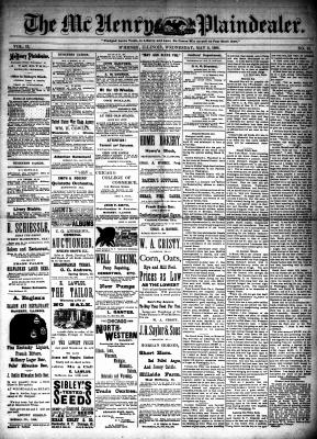 McHenry Plaindealer (McHenry, IL), 9 May 1888