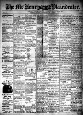 McHenry Plaindealer (McHenry, IL), 1 Aug 1888