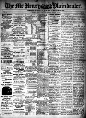 McHenry Plaindealer (McHenry, IL), 8 Aug 1888