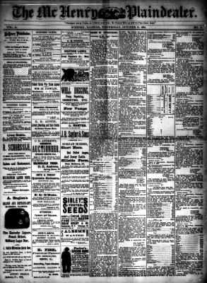 McHenry Plaindealer (McHenry, IL), 10 Oct 1888