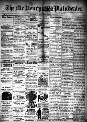 McHenry Plaindealer (McHenry, IL), 13 Feb 1889