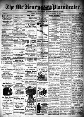 McHenry Plaindealer (McHenry, IL), 20 Feb 1889