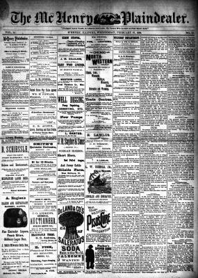 McHenry Plaindealer (McHenry, IL), 27 Feb 1889