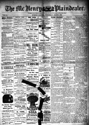 McHenry Plaindealer (McHenry, IL), 6 Mar 1889