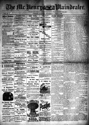 McHenry Plaindealer (McHenry, IL), 3 Apr 1889